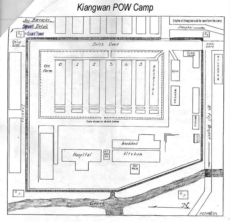 Kiangwan POW camp Shanghai China